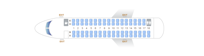 Alaska Airlines CRJ700 Seating Chart