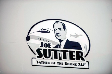 Joe Sutter father of the boeing 747 decal cargolux