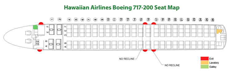 Boeing 717-200 Seat Map Hawaiian Airlines