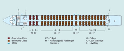 Garuda Indonesia CRJ1000 Seat Map