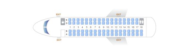 Alaska Airlines CRJ700 Seat Map