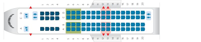 Bombardier CRJ Seat Map FlyRadius - Us airways seating map
