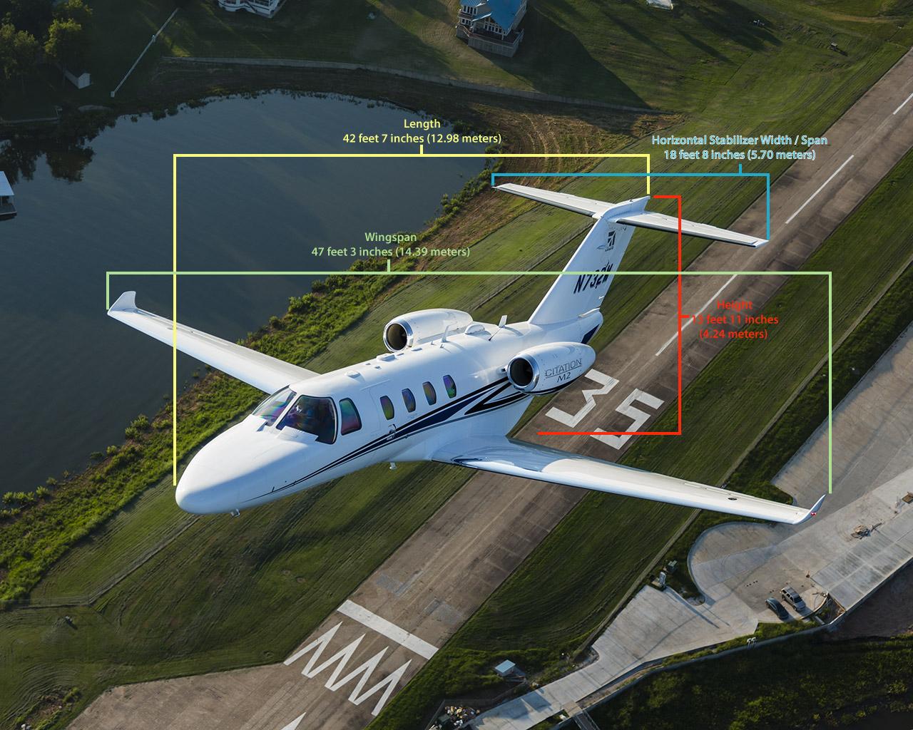 Cessna Citation M2 Specifications - Dimensions | FlyRadius