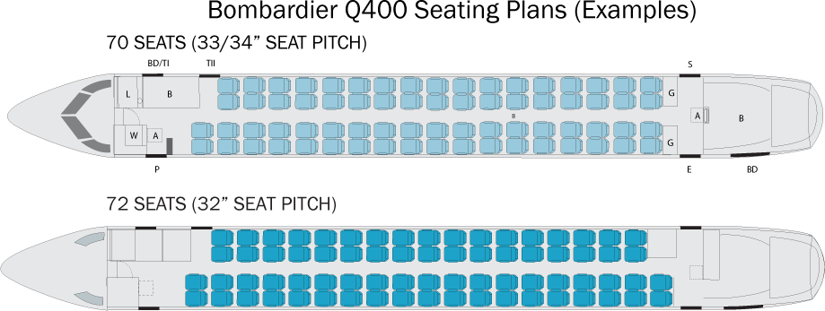 Bombardier Q400 Seating Plan Flyradius