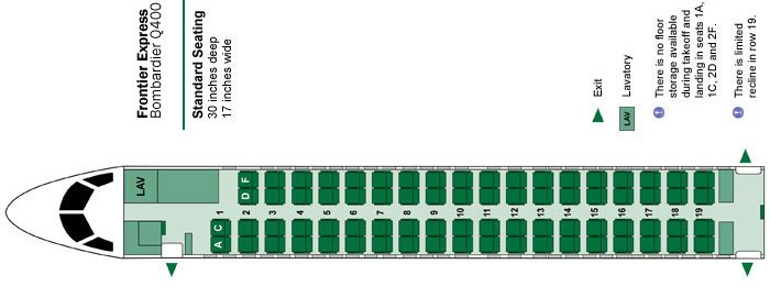Bombardier Q400 Seat Map Seating Chart Flyradius. Frontier Airlines Bombardier Q400 Seat Map Operated By Lynx Aviation. Seat. Airplane Seating Schematic At Scoala.co