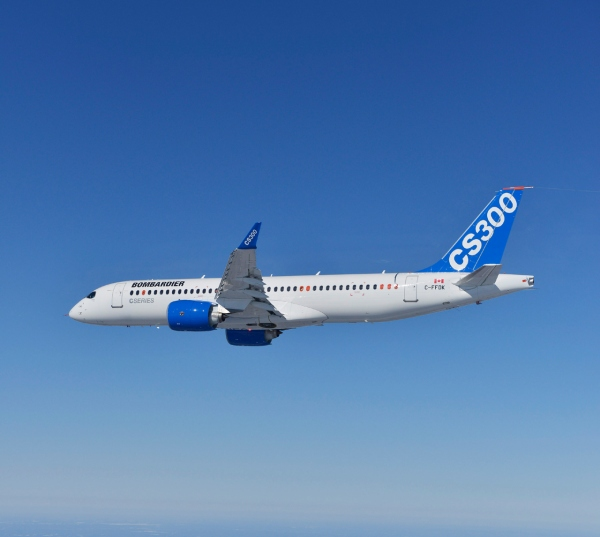 Bombardier CS300 First Flight Completed