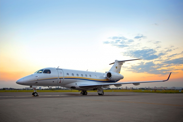 Photo of the First Delivery Embraer Legacy 500 Jet