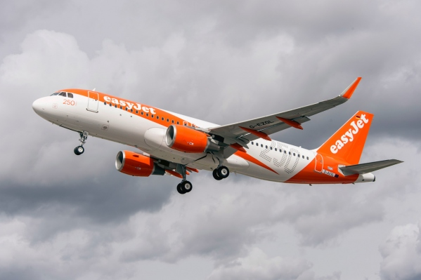 easyjet receives 250 airbus aircraft a320