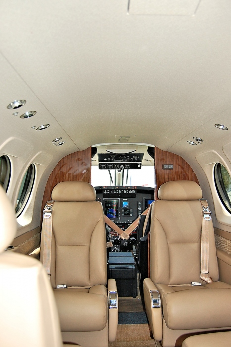 A photo of the Beechcraft King Air C90GTx Interior with the Main Cabin Seats