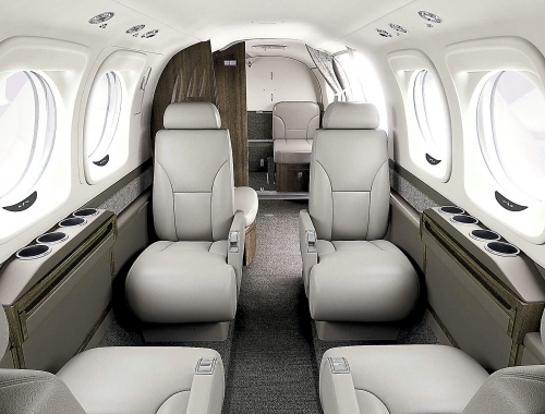 A photo of the Beechcraft King Air C90GTx silver interior color option