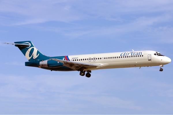 An Airtran Boeing 717-200 Commercial Jet Aircraft
