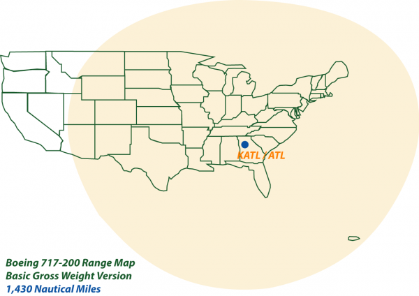 Boeing 717-200 Range Map BGW Version