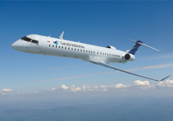 A Garuda Indonesia Bombardier CRJ1000 NextGen Jet