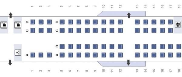 American Eagle CRJ700 Seat Map