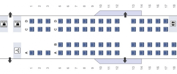 American Eagle CRJ700 Seating Chart