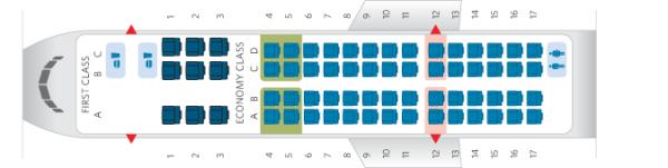 Delta CRJ700 Seat Map Photo