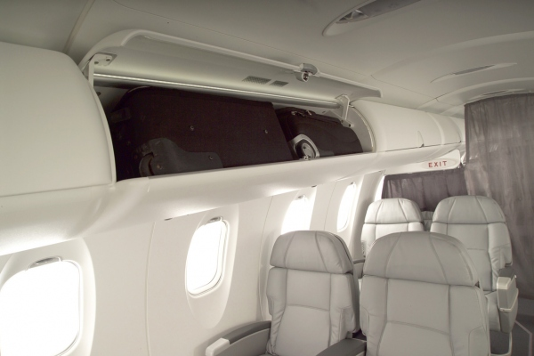 Bombardier CRJ900 Overhead Storage Bins Photo
