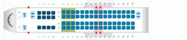 A Delta CRJ900 Seat Map