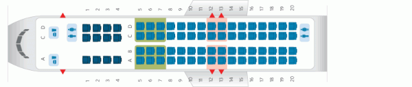 Delta CRJ900 Seating Chart Photo