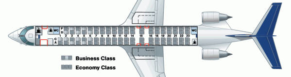 Lufthansa CRJ900 Seating Chart Photo