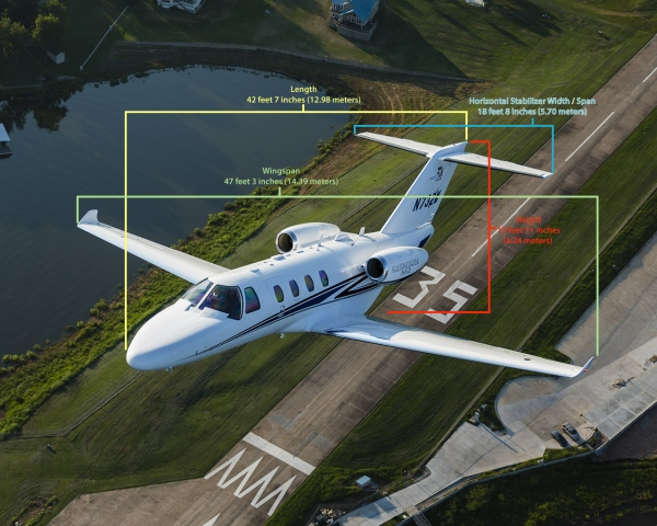 Cessna Citation M2 Specifications and Dimensions Photo