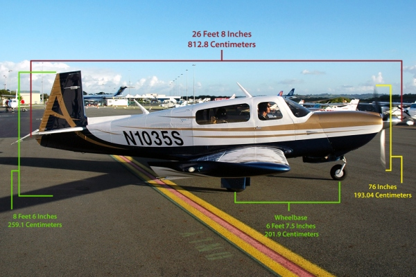 Mooney Acclaim Type S Specifications and Dimensions Photo