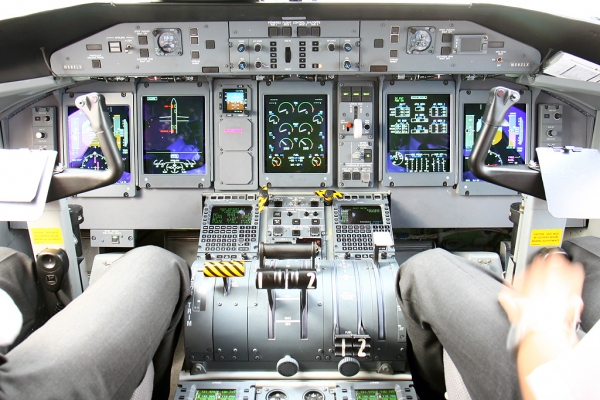 Bombardier Q400 Cockpit - Flight Deck Photo
