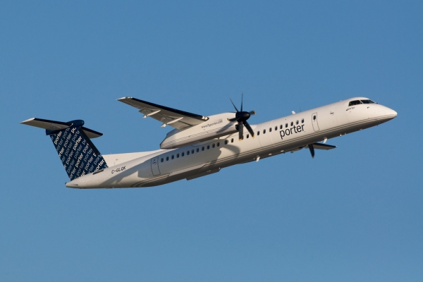 A Bombardier Q400 Specifications Image of a Porter Airlines Q400