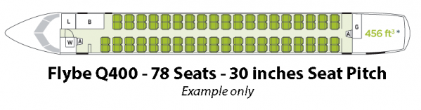 Flybe Bombardier Q400 Seat Map Seating Chart