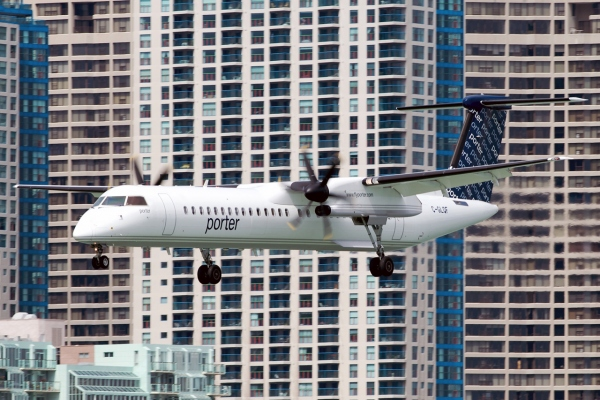 The Porter Airlines Bombardier Q400 Turboprop Aircraft