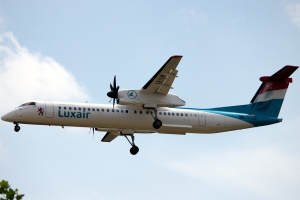 Bombarier Q400 Luxair Luxembourg Airlines Photo In Flight