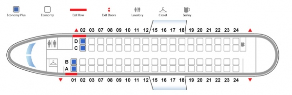 De Havilland Canada Dash 8-400 Bombardier Q400 United Airlines Seat Map Economy Class