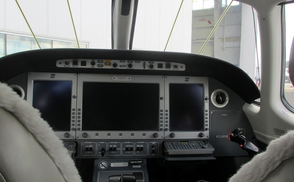 A Photo of the Cockpit for an Eclipse 550 Type Rating