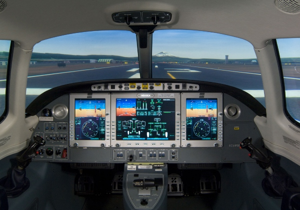 Eclipse 500 Simulator Cockpit at SimCom