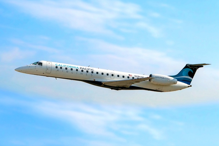A Photo of a California Pacific Airlines Embraer ERJ-145 Jet In Flight