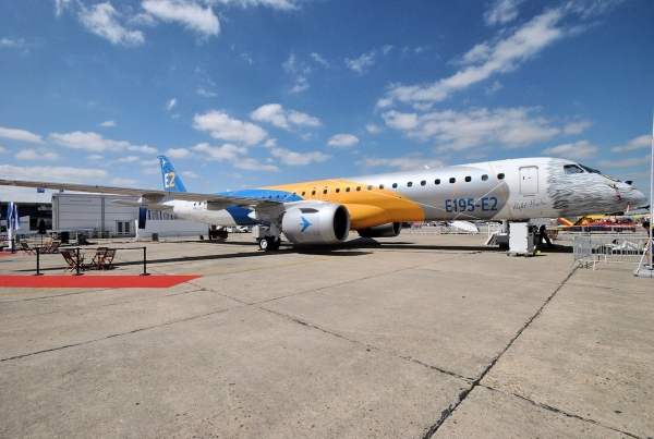 Embraer E195-E2 Jet Test Aircraft at the Paris Air Show 2017