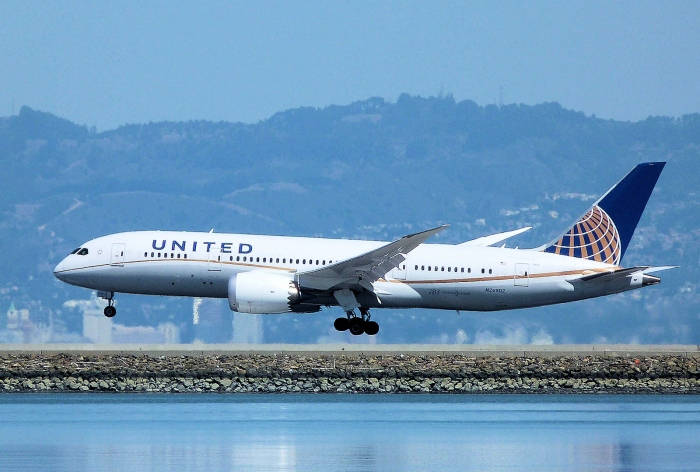 United Airlines Continental Globe Scheme on a Boeing 787-8 Photo